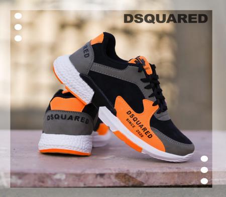 کفش مردانه مدل DSQ(مشکی نارنجی)